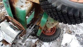 DIY Electric Lawn Tractor part 1: installing the motor