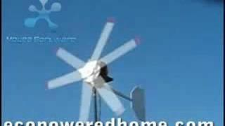Homemade Wind Generator Producing Renewable Energy