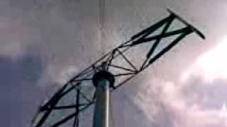 H Rotor Darrieus Windturbine ca 50 Meter hoch (HANDY)