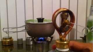 Copper Coil Alcohol Stove.