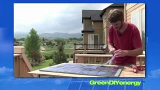 Green DIY Energy Solar Panels - Renewable energy