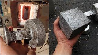 Casting an Aluminium Cube - Experimenting with Fluxs - Homemade Free Green Sand from Common Clay