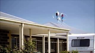 2 x MagLev 600w VAWT Home Roof Install