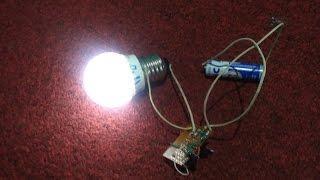 Membuat Listrik tegangan tinggi dari Battery 1.5v - 6v ke 1200v 10watt # Joule Thief