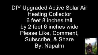 DIY Upgraded Active Solar Furnace