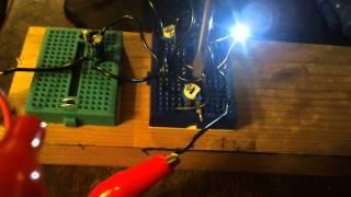 Testing 3 Pot PWM circuit using 555 timer with LED and Speaker:)