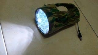 USB LED Flashlight with Super capacitor 150 F 5.4 volts
