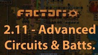 Factorio - Let's Play Episode 2.11 - Advanced Circuits & Batteries