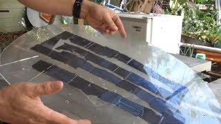 DIY Solar Panel from broken scrap cells UV CURE Resin