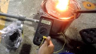 Diy metal foundry Clone temperature measurement