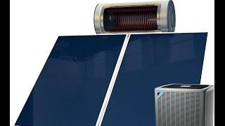 Solar Thermosiphon Water Heater for Heat Pumps.