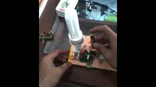 Joule thief from bug zapper