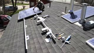 HOW TO INSTALL SOLAR PANELS DIY ARRAY ENPHASE MICROINVERTERS 1 47 KW SYSTEM TIME LAPSE   from YouTub