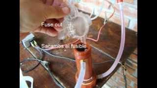 Fuel Vaporizer with HHO bubbler  Vaporizador de Gasolina con Burbujeador