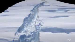 Glacier in Antarctica Breaks into Large Iceberg