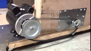 AC DC Permanent Magnet Motor Generator Pulley Rotation Alignment Test OFF GRID Electric Energy HOJO