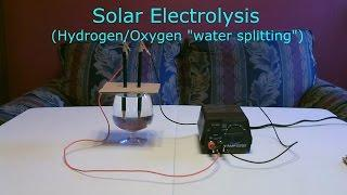 "Solar Hydrogen/Oxygen Generator DIY - Simple ""Electrolysis"" using sunlight!  (turns water into fuel)"