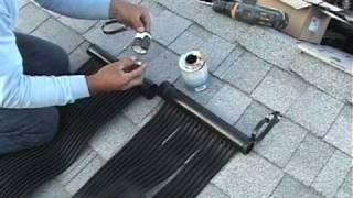 Shingle Roof Installation- Powerstrip Solar Pool heating Systems