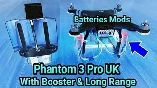 Phantom 3 Pro UK - 5th Long Range, Windsurfer & Batteries Mods (I'm Deaf)