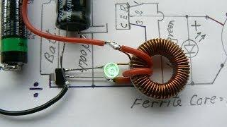 Joule Thief - very very very low input  0,035 volt