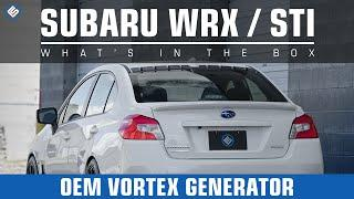 Subaru OEM Vortex Generator - 2015 Subaru WRX/ STI Install/Review Video