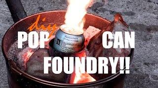 Quick Melting Cans in the Home Made Foundry!!  Really cool DIY!