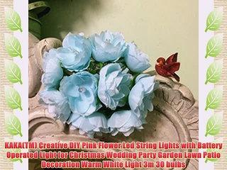 KAKA(TM) Creative DIY Pink Flower Led String Lights with Battery Operated Light for Christmas