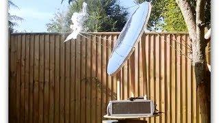 Homemade parabolic mirror and solar tracker