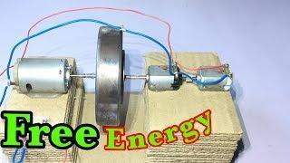 How to make free energy generator, a flywheel generator | Self running generators Homemade Invention
