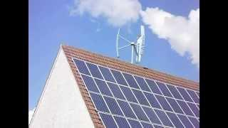 SkyLine Sl10 - 1kW Windkraftanlage Darrieus H-Rotor