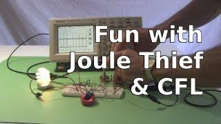Fun with Joule Thief Powering a Compact Fluorescent Light