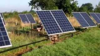 Solar Tracker,(4kw array) home-made with cheap components.