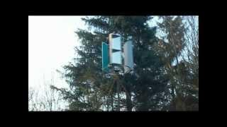 Initial vertical axis wind turbine test