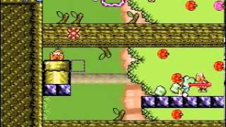 Yoshi's Strange Quest Level: Vertical Forest