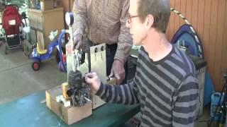 2 stroke 30cc conversion to steam power generator