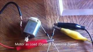 1 Battery Tesla Switch Running Motor as Load