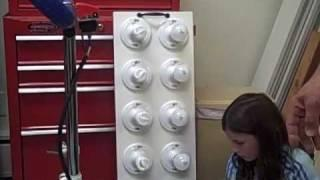 Exercise bike generator using a car alternator
