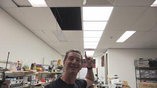 EEVblog #764 - New Lab Ceiling LED Lighting Installation