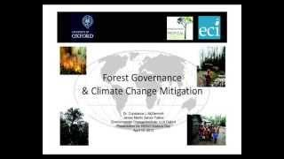 HENVI Tuesday (7) Dr McDermott: Forest governance and climate change mitigation