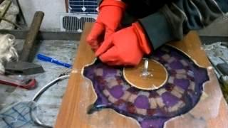 DIY VAWT Part 6  --Wind generator stator mold ripping..