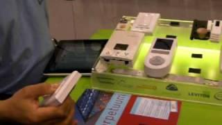 Energy-Harvesting Wireless Battery-Free Remote Switch Demo at Lightfair 2010