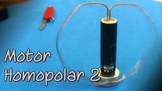 El motor más simple del mundo  │ Motor homopolar 2 │ Experimento Fácil