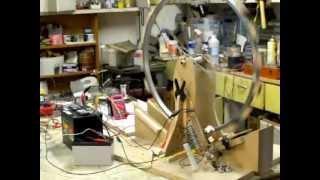 Multi Filar Coil (9) Motor Running  Bedini Monopole