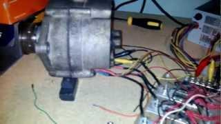 Running a car alternator as a bldc electric motor with some diy stuff