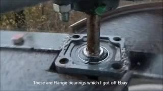 VAWT wind turbine close up of bearings 21 11 2016