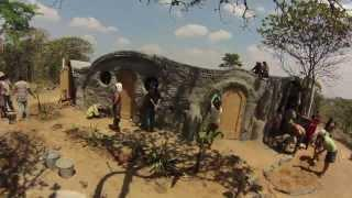Malawi flower design earthship