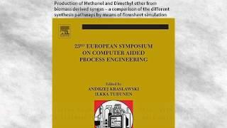 23 European Symposium on Computer Aided Process Engineering: Production of Methanol | Ebook