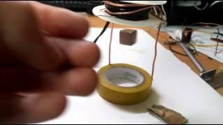 Stable Magnetic levitation using hall-effect sensor