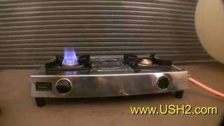 Stove, Cooking, Light, Power from Gasification of Hydrogen B