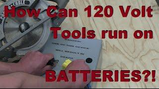 Make a 120 Volt BATTERY PACK FOR POWER TOOLS!